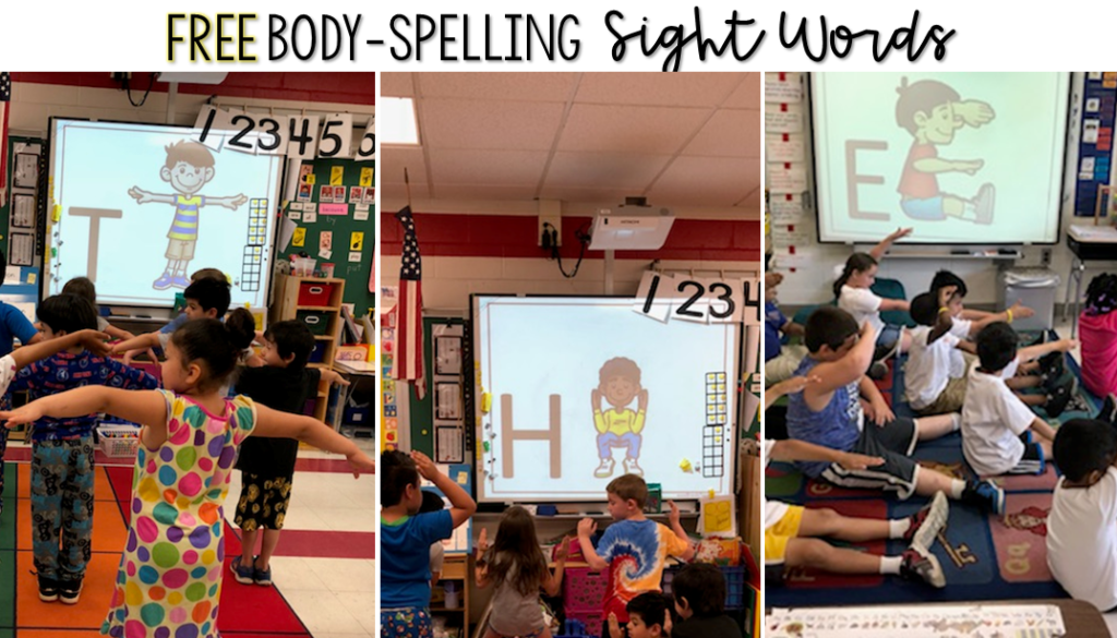 Incoporating movement into sight word instruction helps students retain information better! This free PowerPoint guides students in practicing sight words using visual, auditory, reading, writing, and kinesthetic methods.