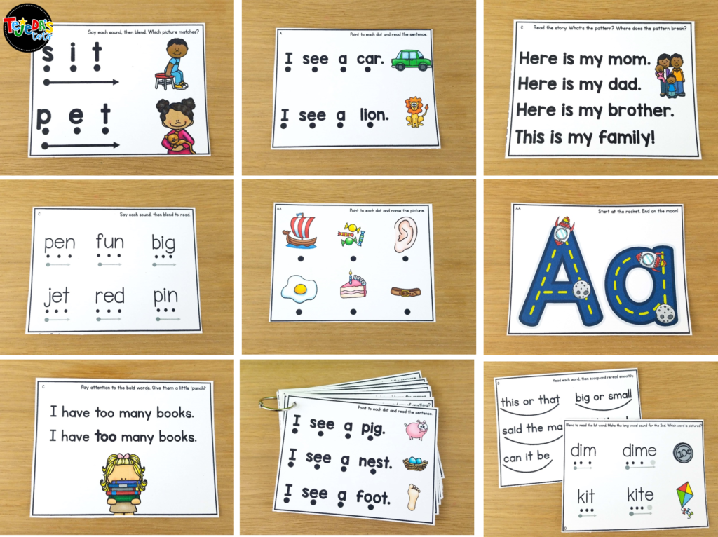 These guided reading skill task cards are perfect for practicing reading skills and strategies. Organized by reading level, they are perfect for for your small group lessons or centers.  #tejedastots #guidedreading