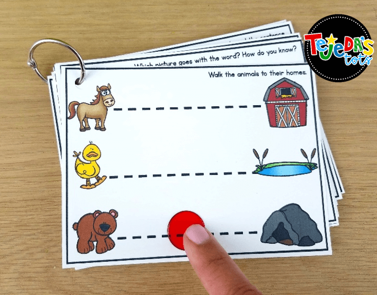 These guided reading skill task cards are perfect for practicing reading skills and strategies. Organized by reading level, they are perfect for for your small group lessons or centers. You can make them even more fun and interactive with translucent chips or toy cars! Store them in a small photo box or add them to a ring. #tejedastots #guidedreading