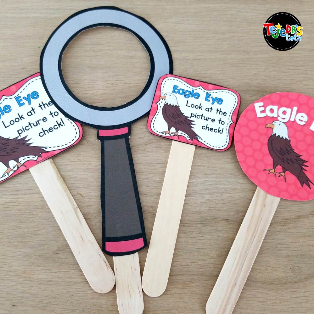 These Eagle Eye reading strategy tools make learning this important comprehension strategy fun and memorable! Use the large poster to display in your room for reference and the mini-posters on popsicle sticks during small group guided reading and centers.