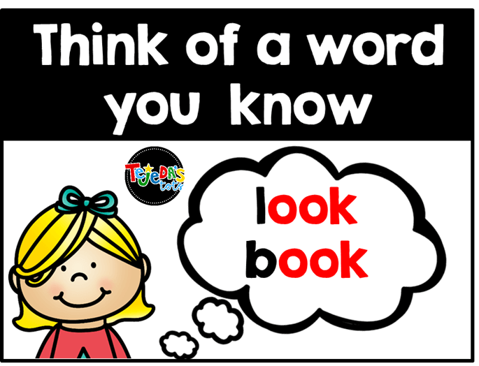 Thinking of a rhyming or similar word can help kids spell new words. Encourage your kindergarten and first-grade students to use word families and parts they know to help them spell unknown words.  Grab free pieces to make your own spelling strategies anchor chart here.