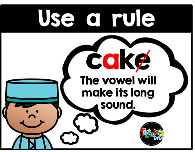 Remind your students to think of a phonics rule they have learned that they can apply to their spelling. Add this to your spelling strategies anchor chart for easy reference and help get your students writing independently. FREE anchor chart pieces here!