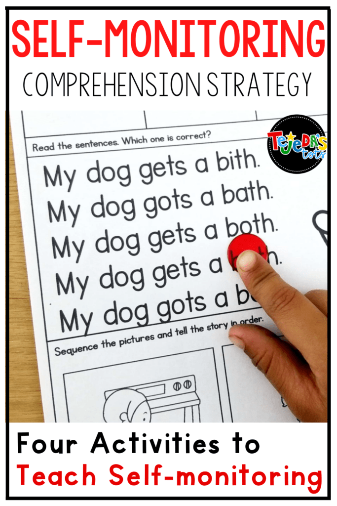 Self-monitoring is an important skill for early and advanced readers alike. Read this post for 4 simple activities you can have your students do to practice self-monitoring reading comprehension. When students learn to self-monitor their own reading, comprehension and decoding both improve!